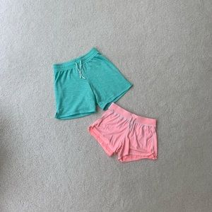SO Girls pink and teal shorts